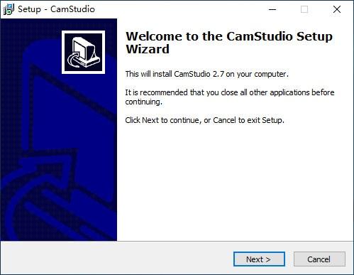 camstudio setup wizard