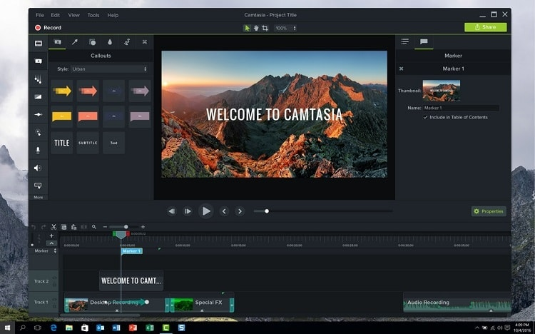 camtasia screen recording