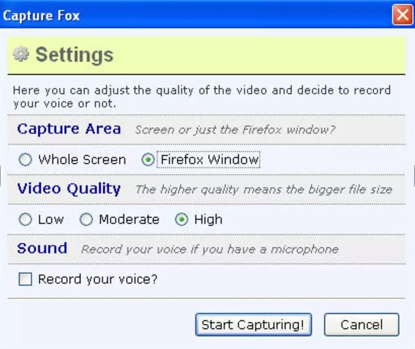 capture fox open source