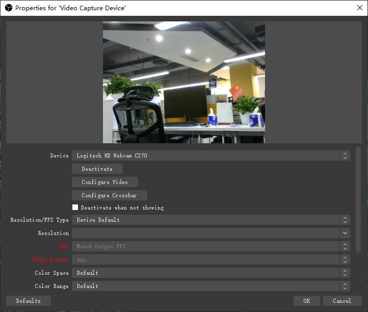 choose webcam