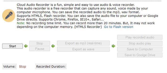 cloud audio recorder