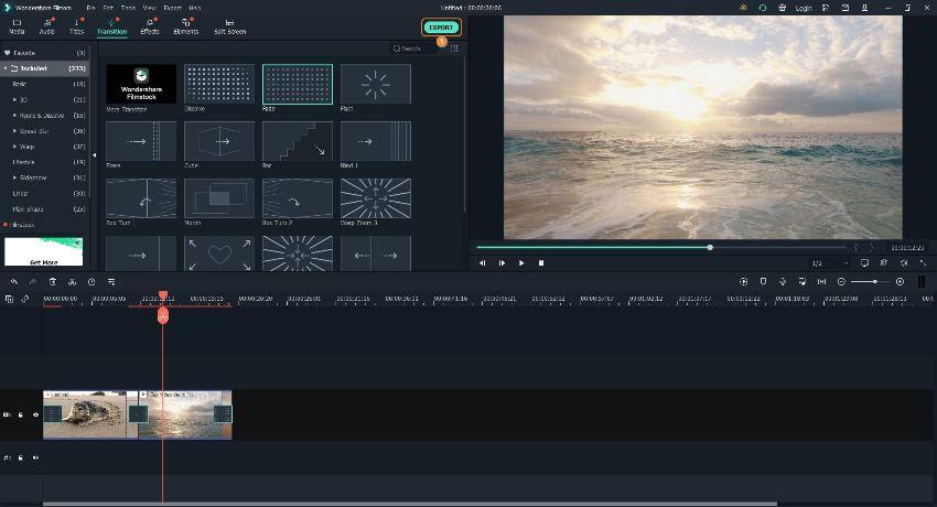 combine videos and export