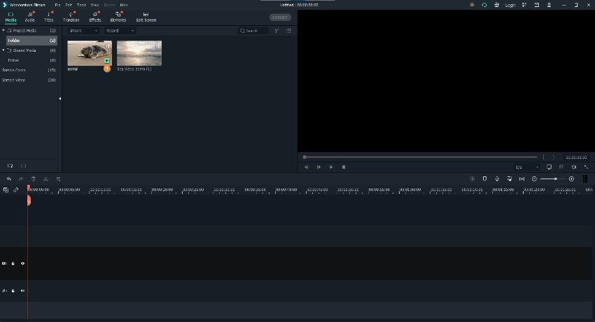 combine videos filmora
