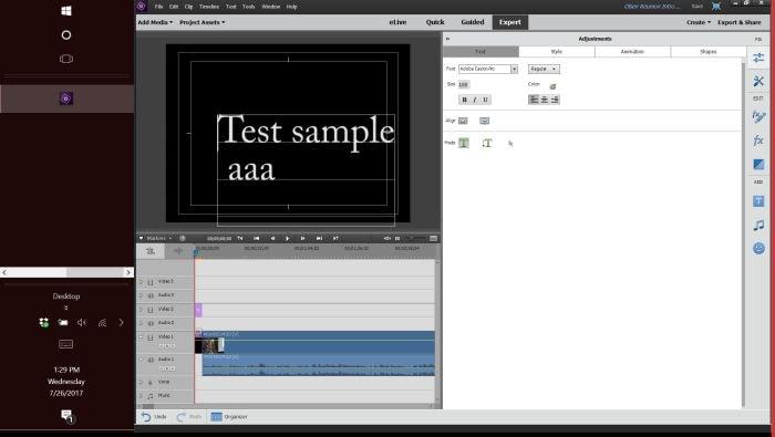 create text box premiere pro