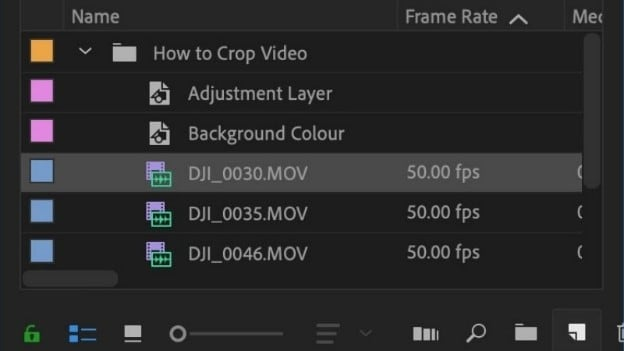 crop video in premiere step 2