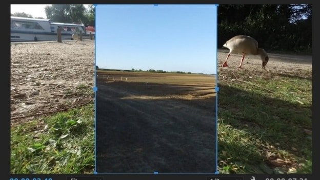 crop video in premiere use crop handle