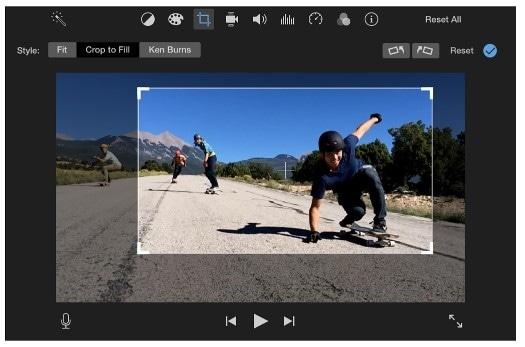 crop video imovie