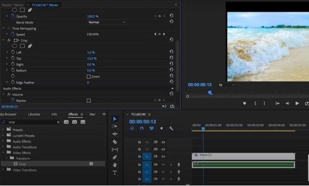 crop video in premiere pro