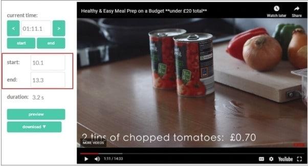 crop youtube video step 2