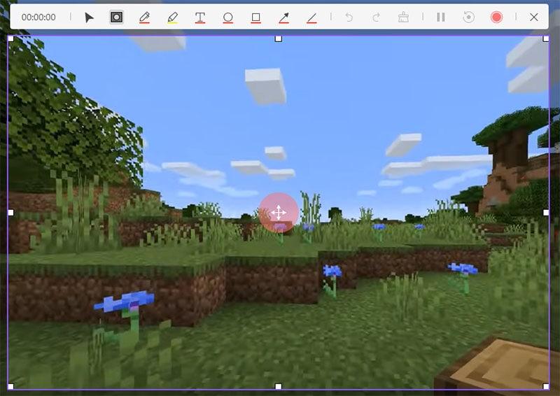 customize minecraft recording area