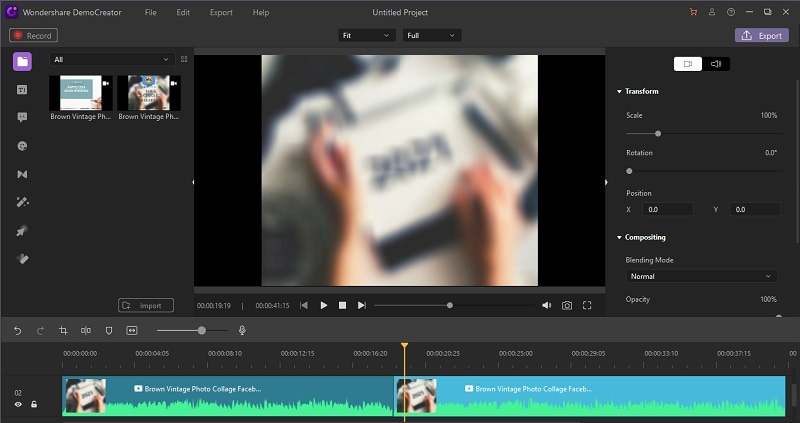 democreator merge videos step 3