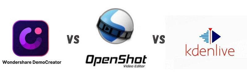 democreator vs openshot vs kdenlive