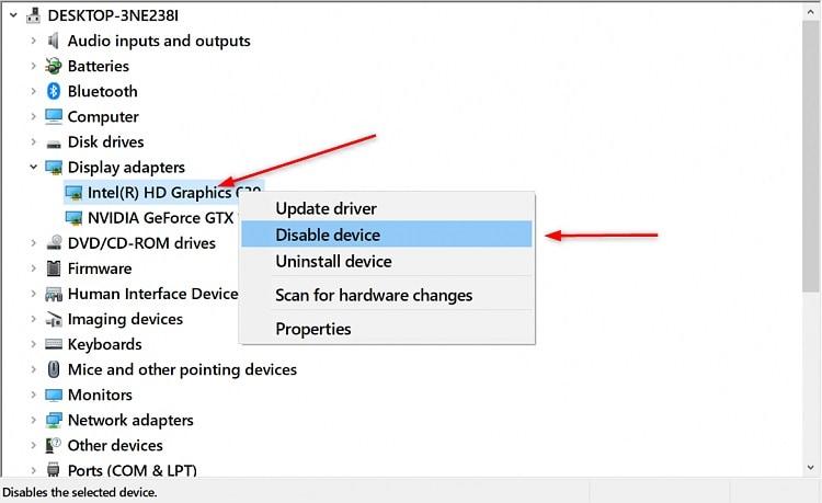 disable integrated gpu