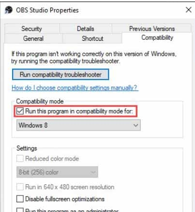 enable compatibility mode