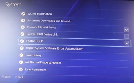enable hdcp system