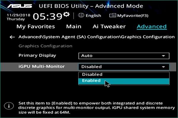 enable igpu