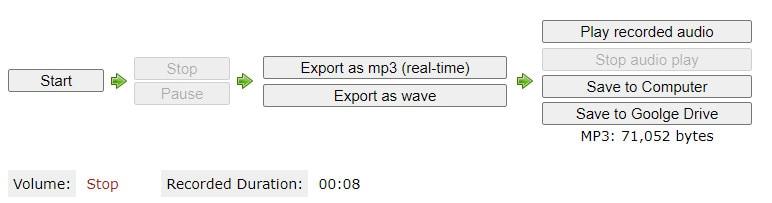 export audio from cloud audio recorder