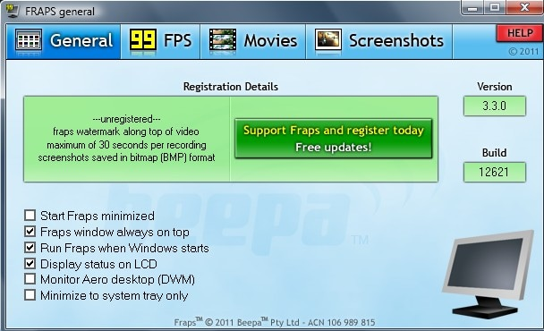fraps gif screen recorders for windows