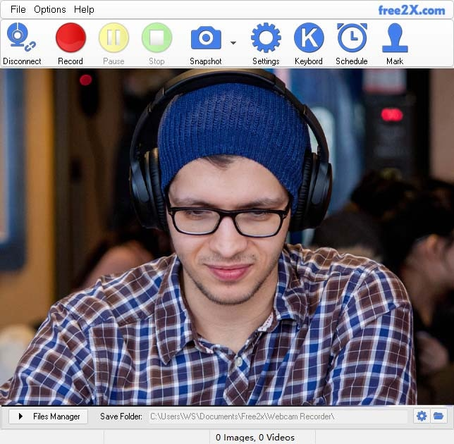 free2x webcam recording tool