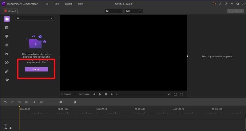 trim cut video with democreator