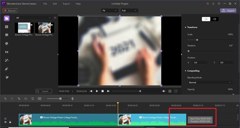 democreator trim video