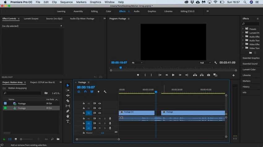 split video in premiere step 4