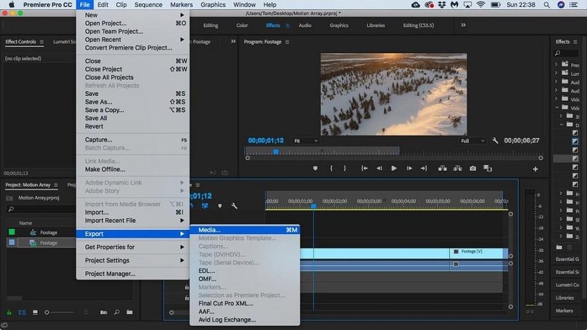 split video in premiere step 5