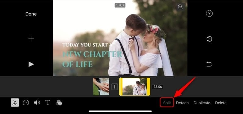 split video on iphone step 3