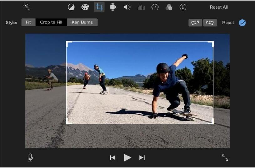 imovie crop video