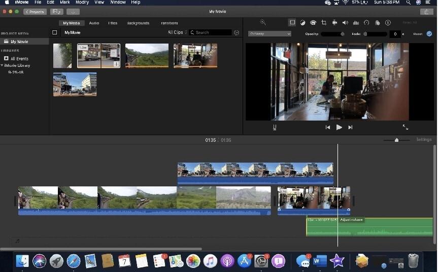 imovie trim video mac