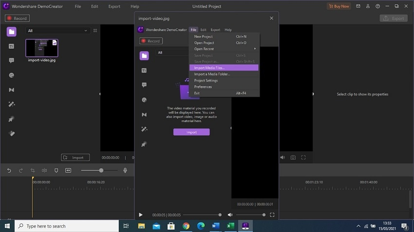 democreator import videos to combine