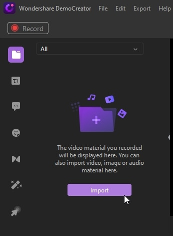 import media files to combine videos