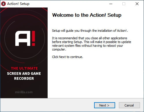 download and install action