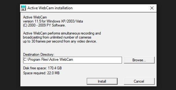 install activewebcam