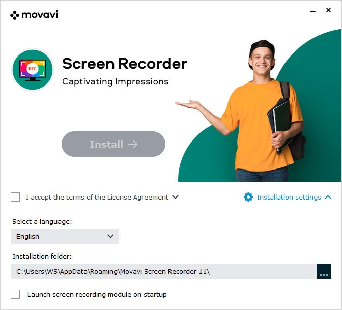 install movavi screen recorder