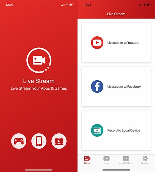 live stream apps and games