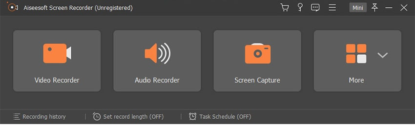 main functions of aiseesoft recorder