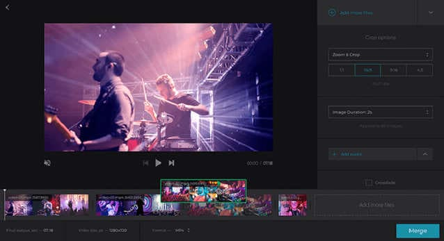 merge video and audio clideo