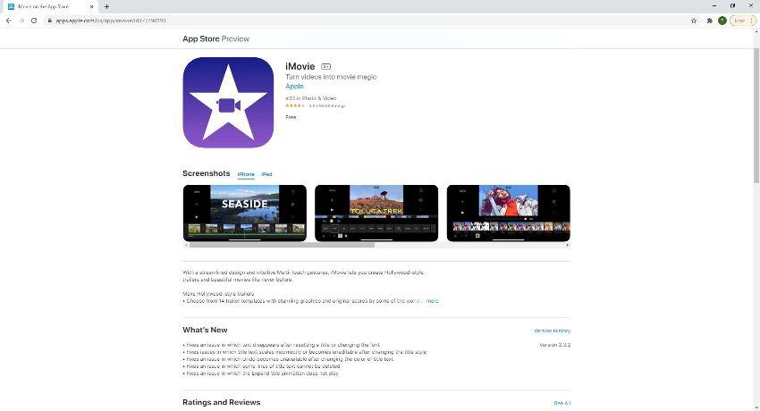 iMovie combine videos on iPhone
