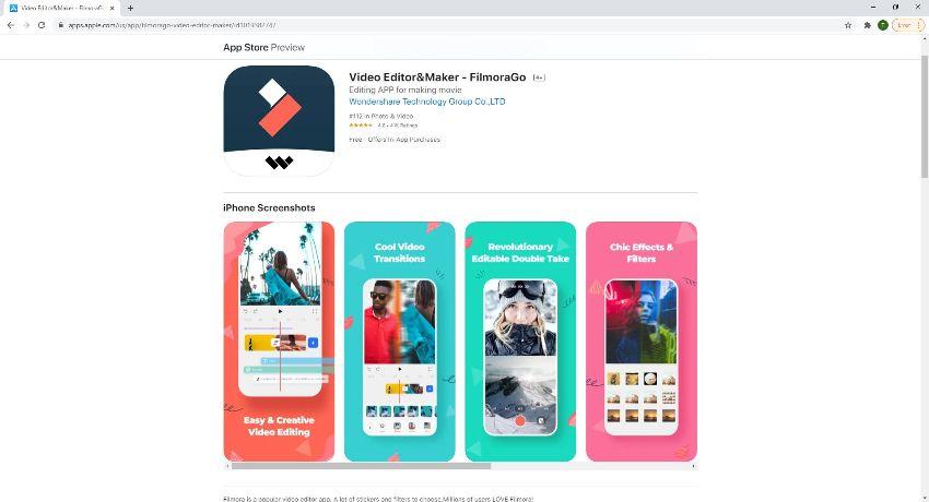 Filmora go iPhone merge videos