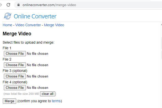 merge videos online onlineconverter