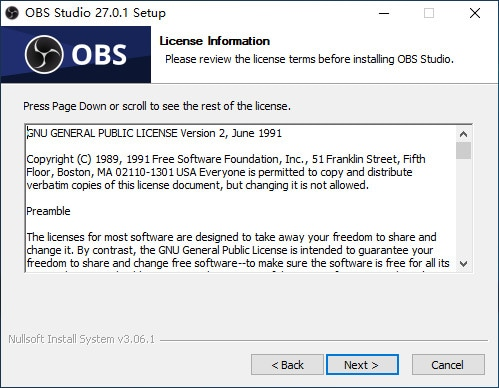 obs install