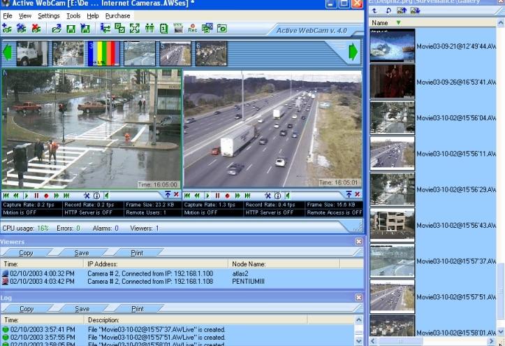 open active webcam