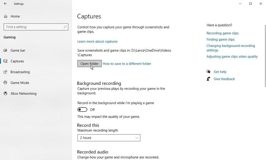 capture option game bar
