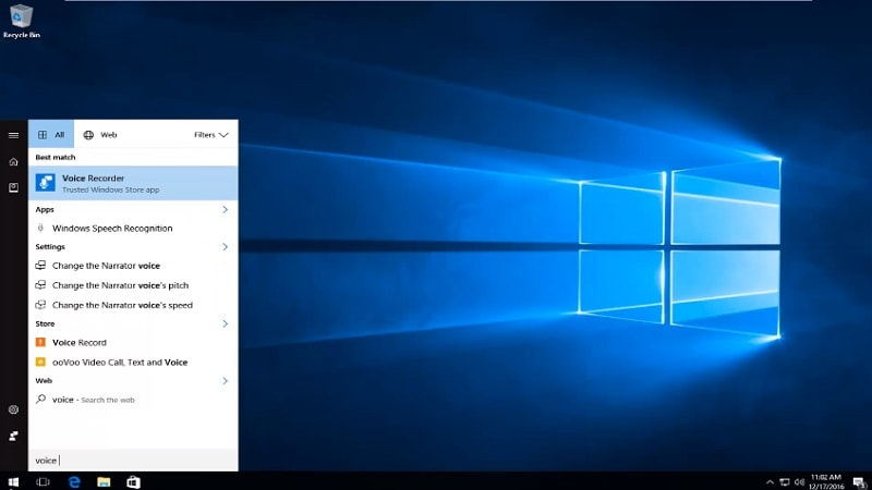 windows 10 voice recorder