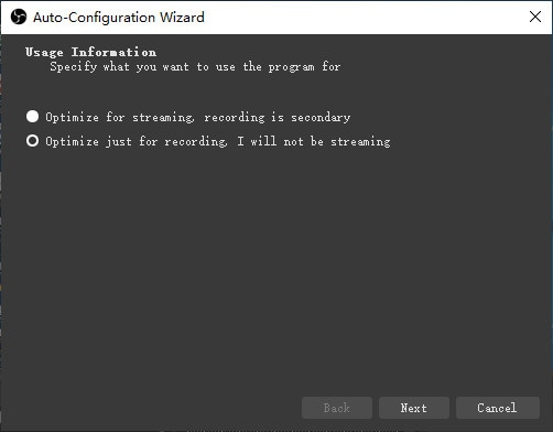 optimize for streaming obs