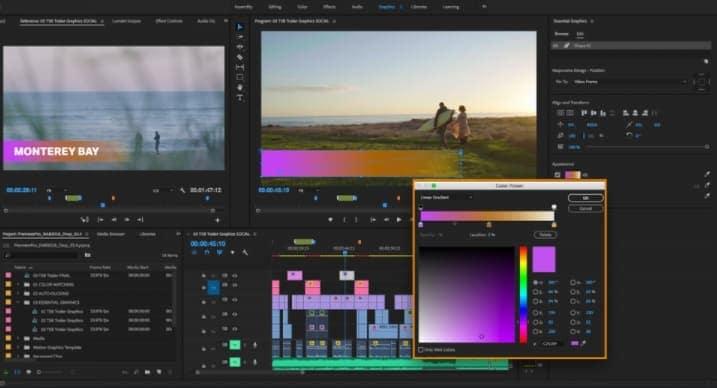 premiere pro split screen