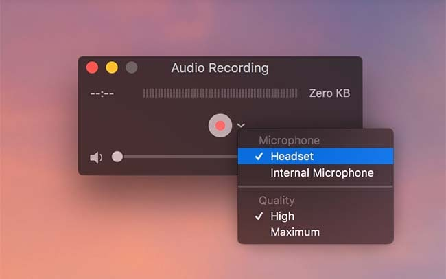 quick time screen recorder with audio