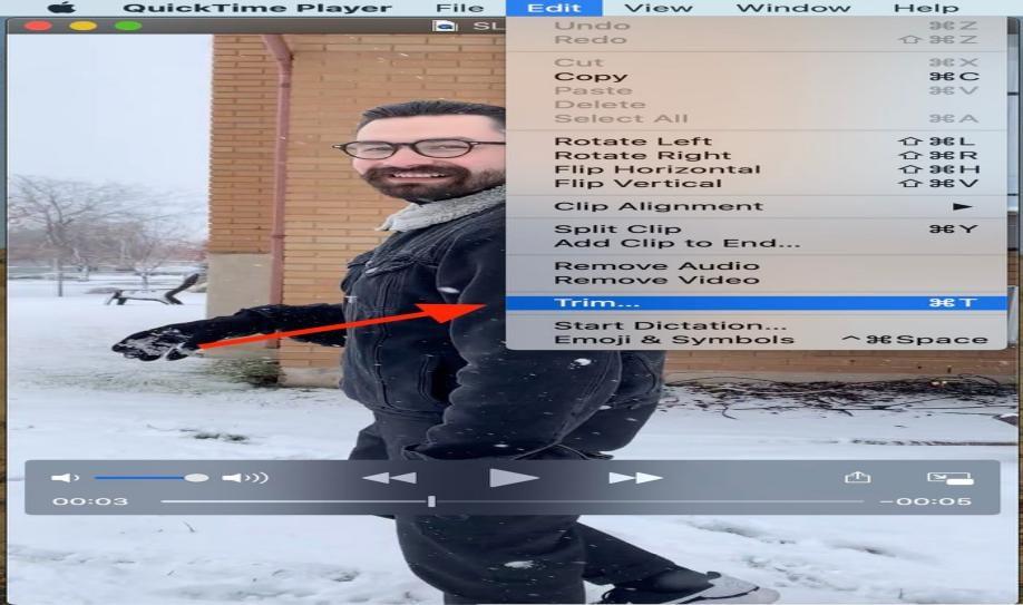 quicktime trim video on mac