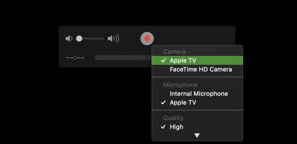 record apple tv with quicktime